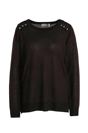 fijngebreide trui Elle zwart