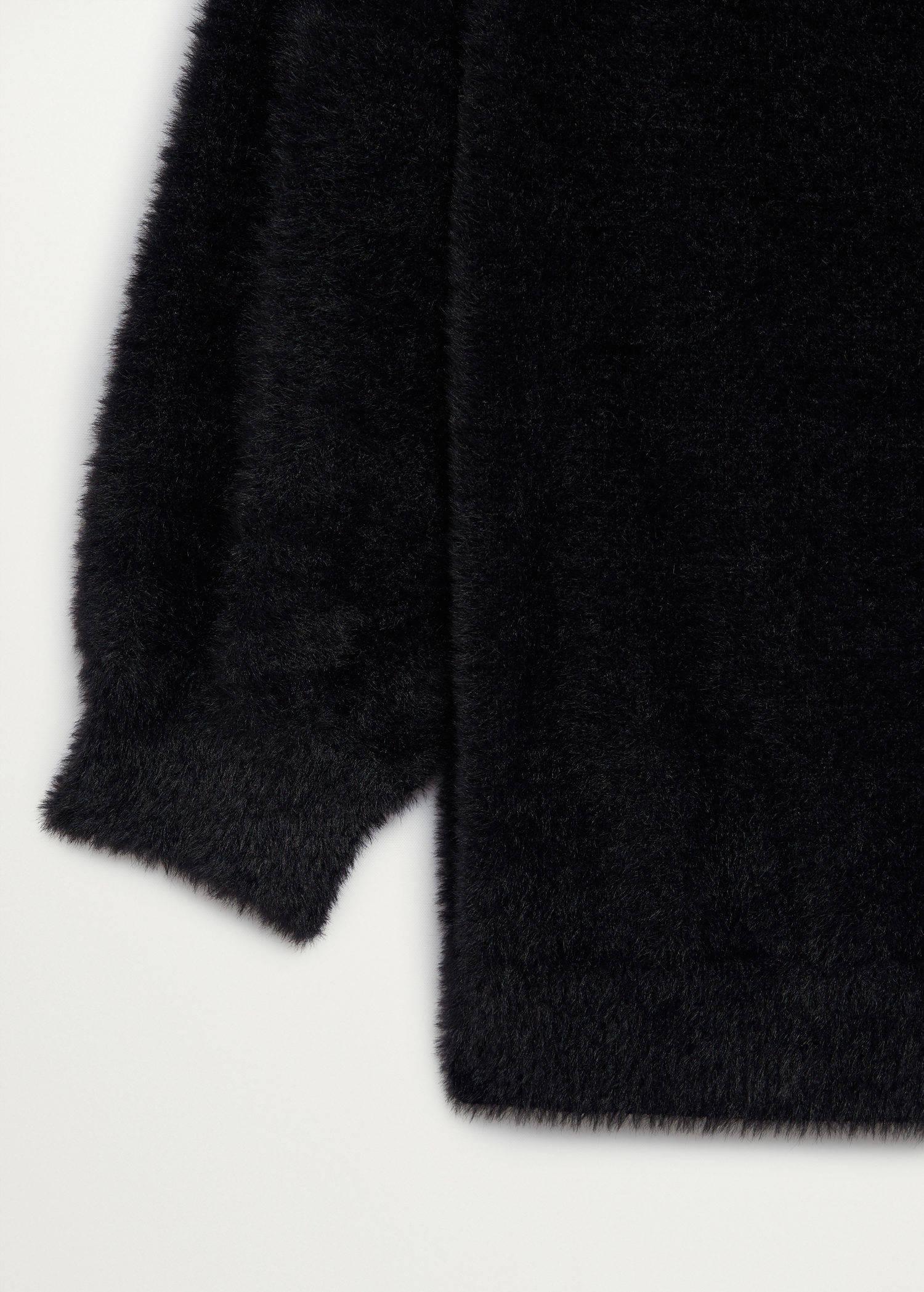 Mango gebreide imitatiebont trui zwart | wehkamp
