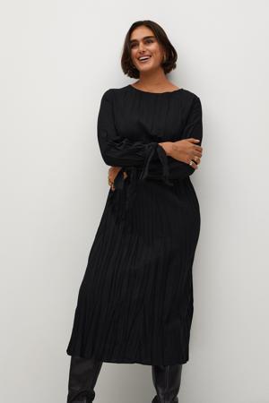 jurk met textuur zwart