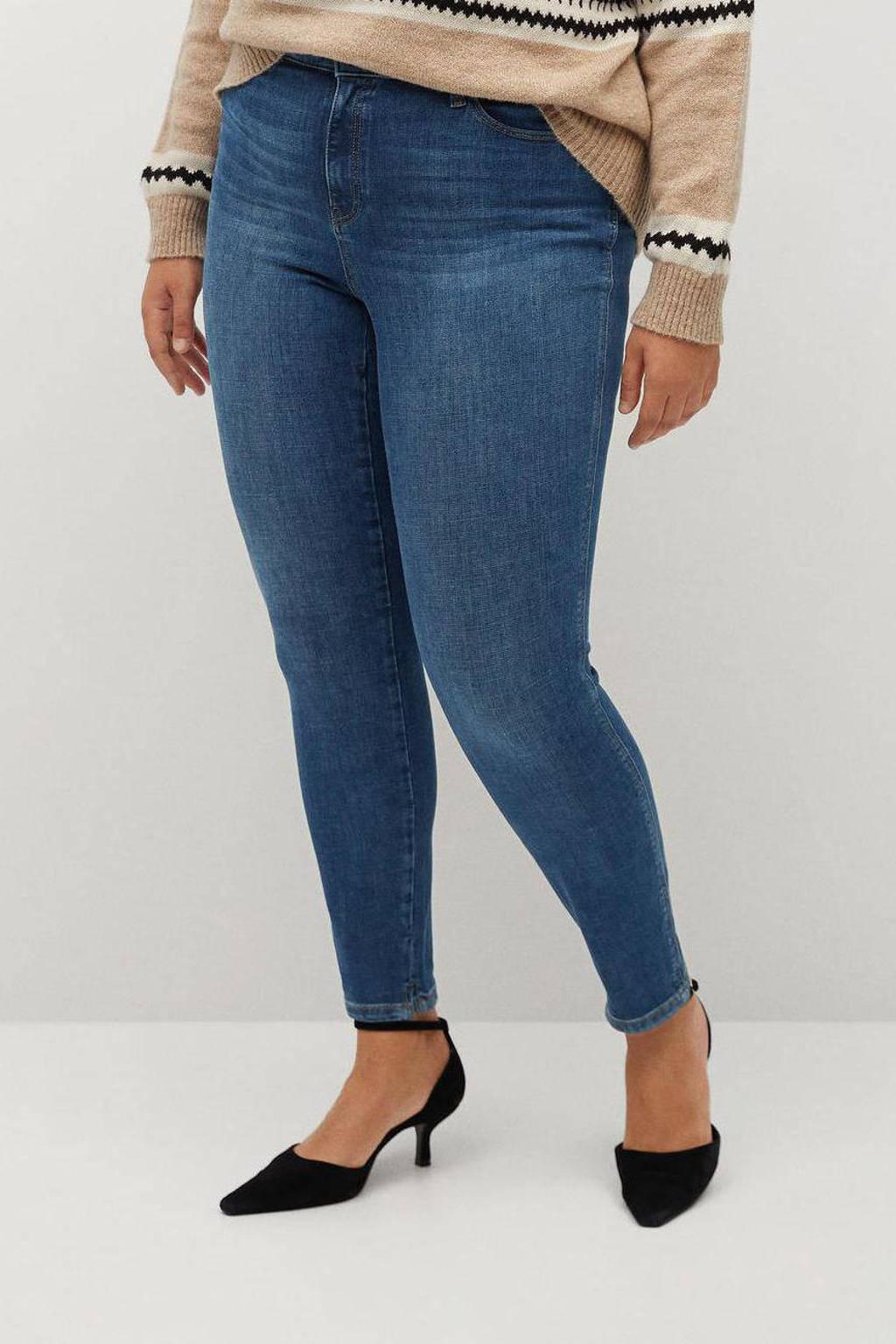 Violeta by Mango push-up skinny jeans Irene Bi-stretch blue