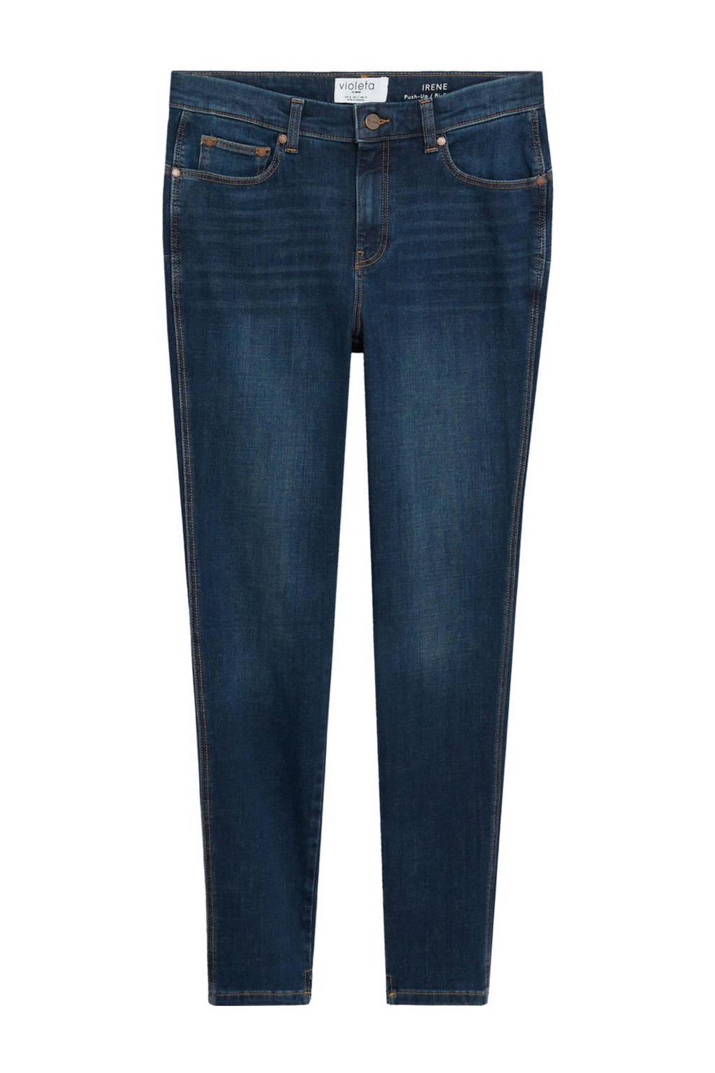 Violeta by Mango push-up skinny jeans Irene Bi-stretch darkblue, DarkBlue