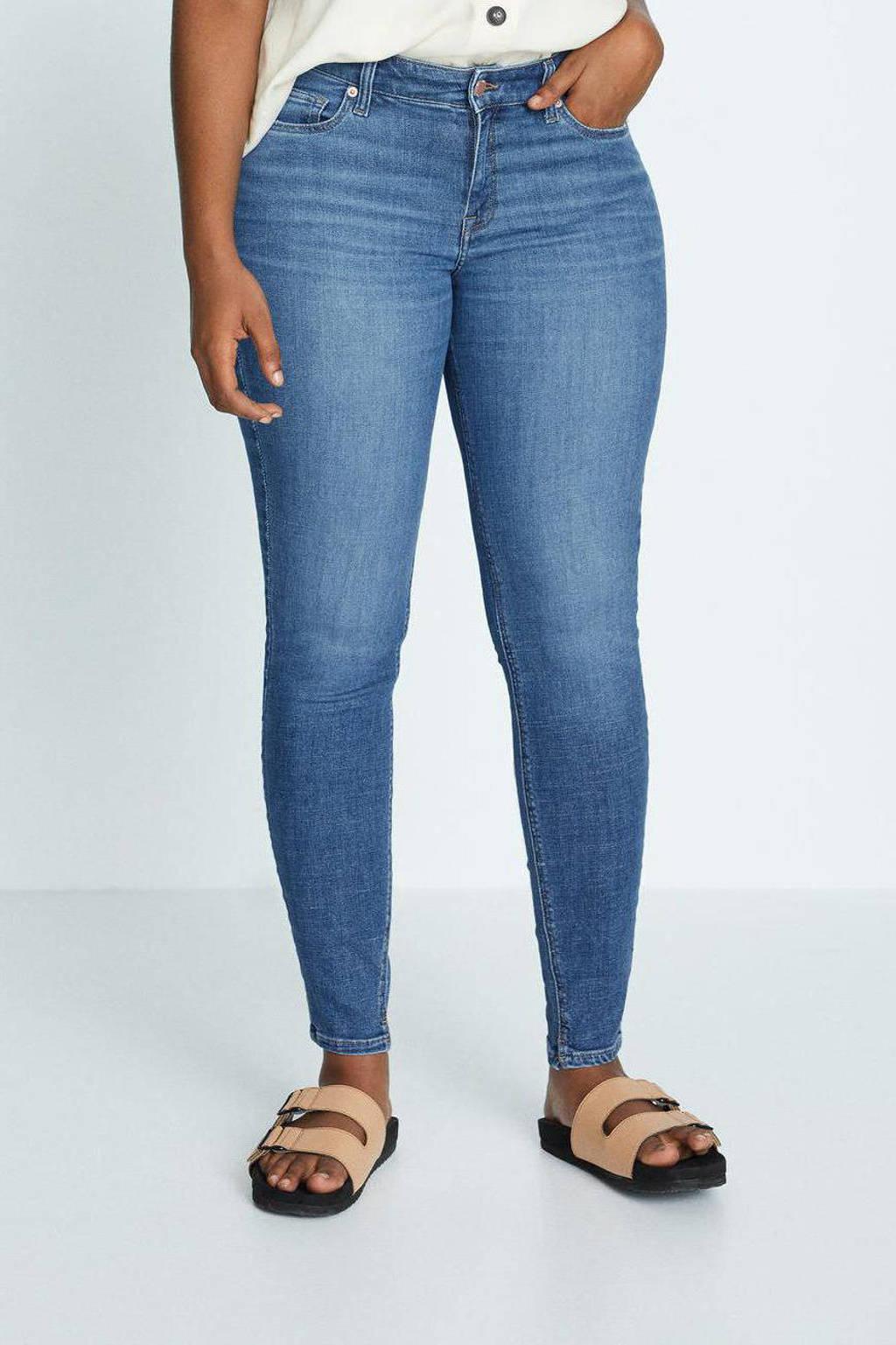 Violeta by Mango low waist super skinny jeans Andrea blue