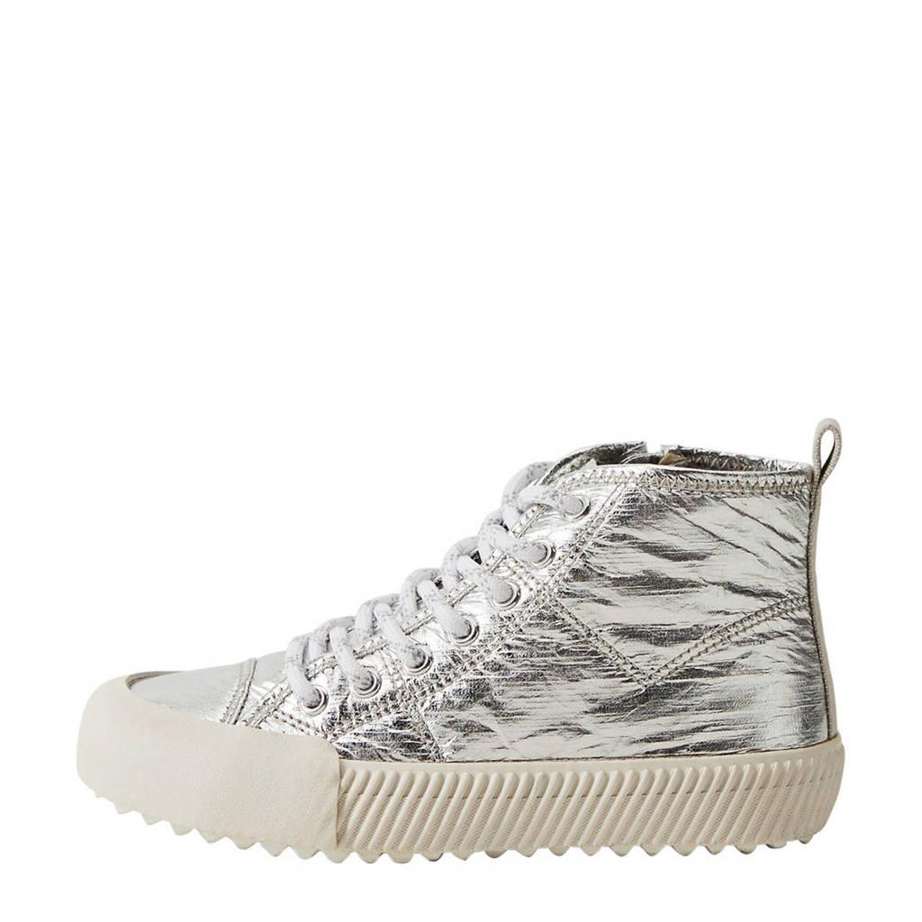Mango Kids   hoge sneakers zilver, Zilver