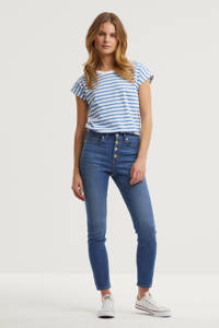 anytime skinny fit high rise jeans, Blauw