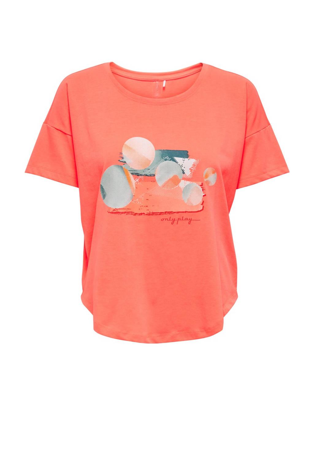 ONLY PLAY sport T-shirt Felipa oranje, Oranje