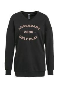 ONLY PLAY sportsweater Jara zwart/taupe, Zwart/taupe
