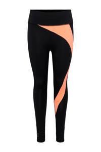 ONLY PLAY sportlegging Malia zwart/neon oranje, Zwart/neon oranje
