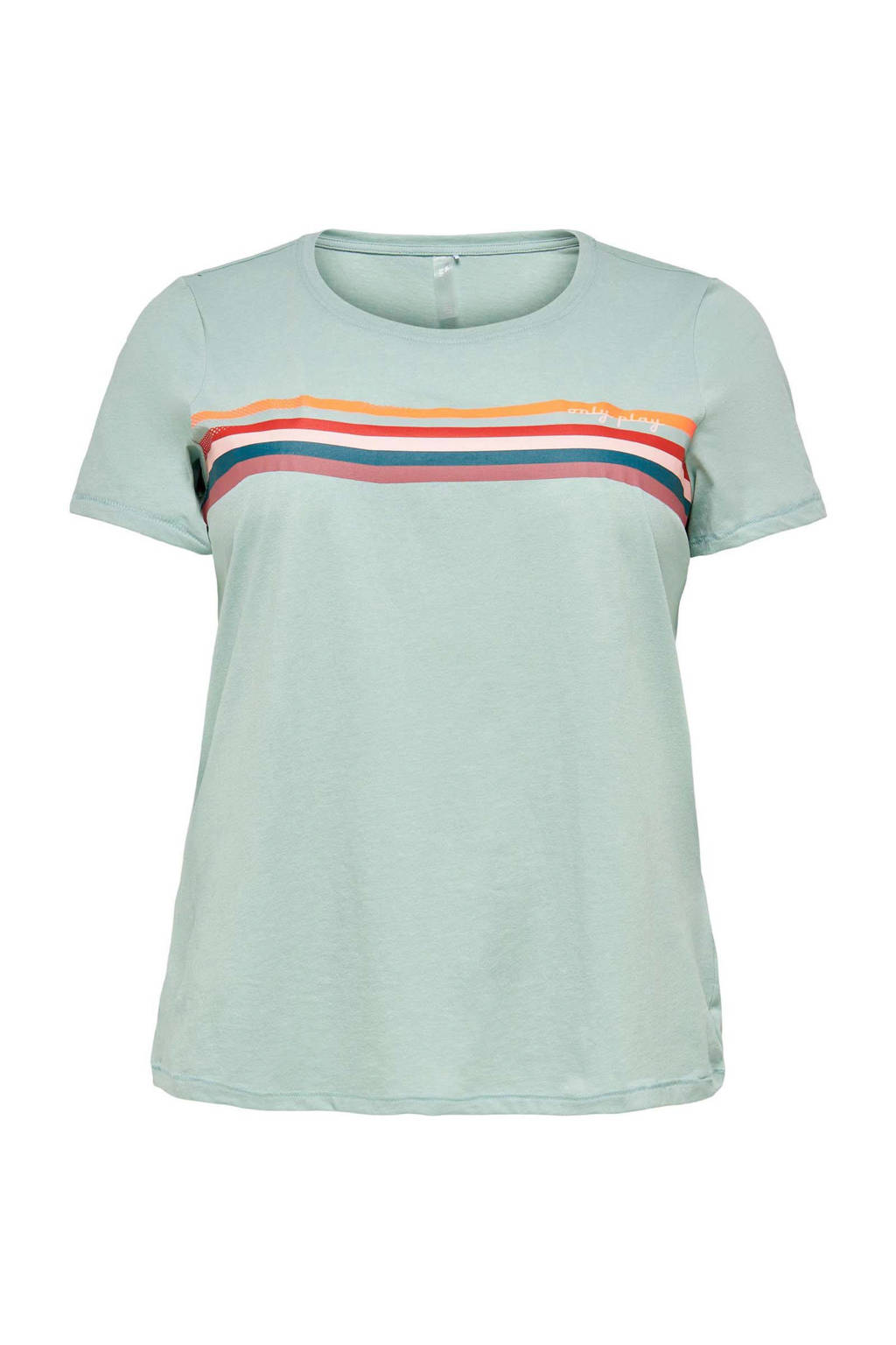 Only Play Curvy Plus Size sport t-shirt Fu blauw, Blauw