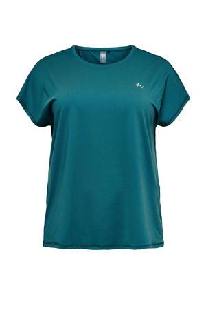 sport T-shirt Aubree groen