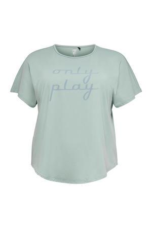 Plus Size sport T-shirt Fuudie grijsgroen