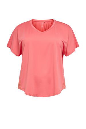 Plus Size sport T-shirt Jensa roze