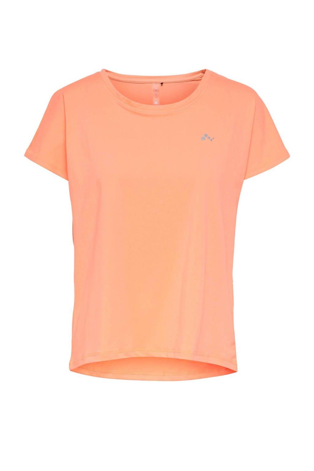 ONLY PLAY sport T-shirt Aubree oranje, Oranje