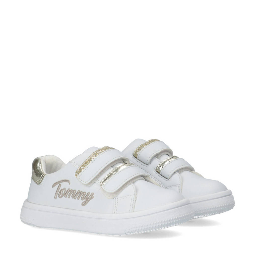 Tommy Hilfiger   sneakers wit/goud, Wit/goud