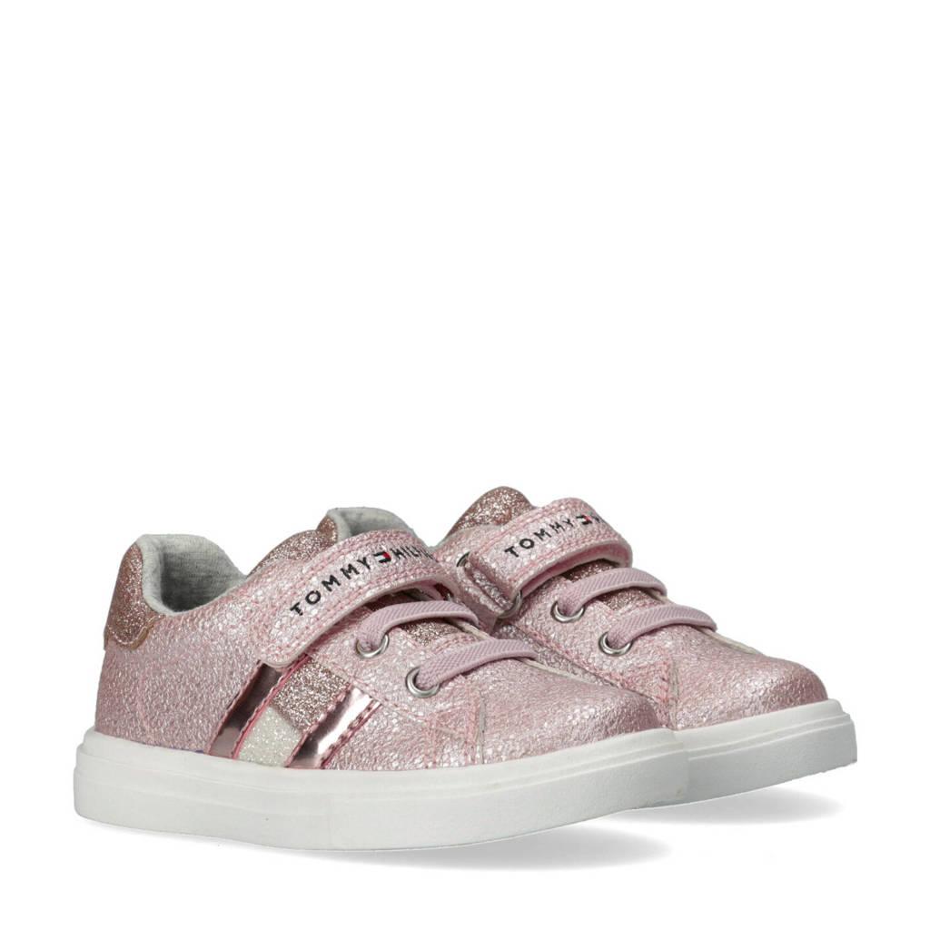 Tommy Hilfiger   sneakers met glitters roze, Roze