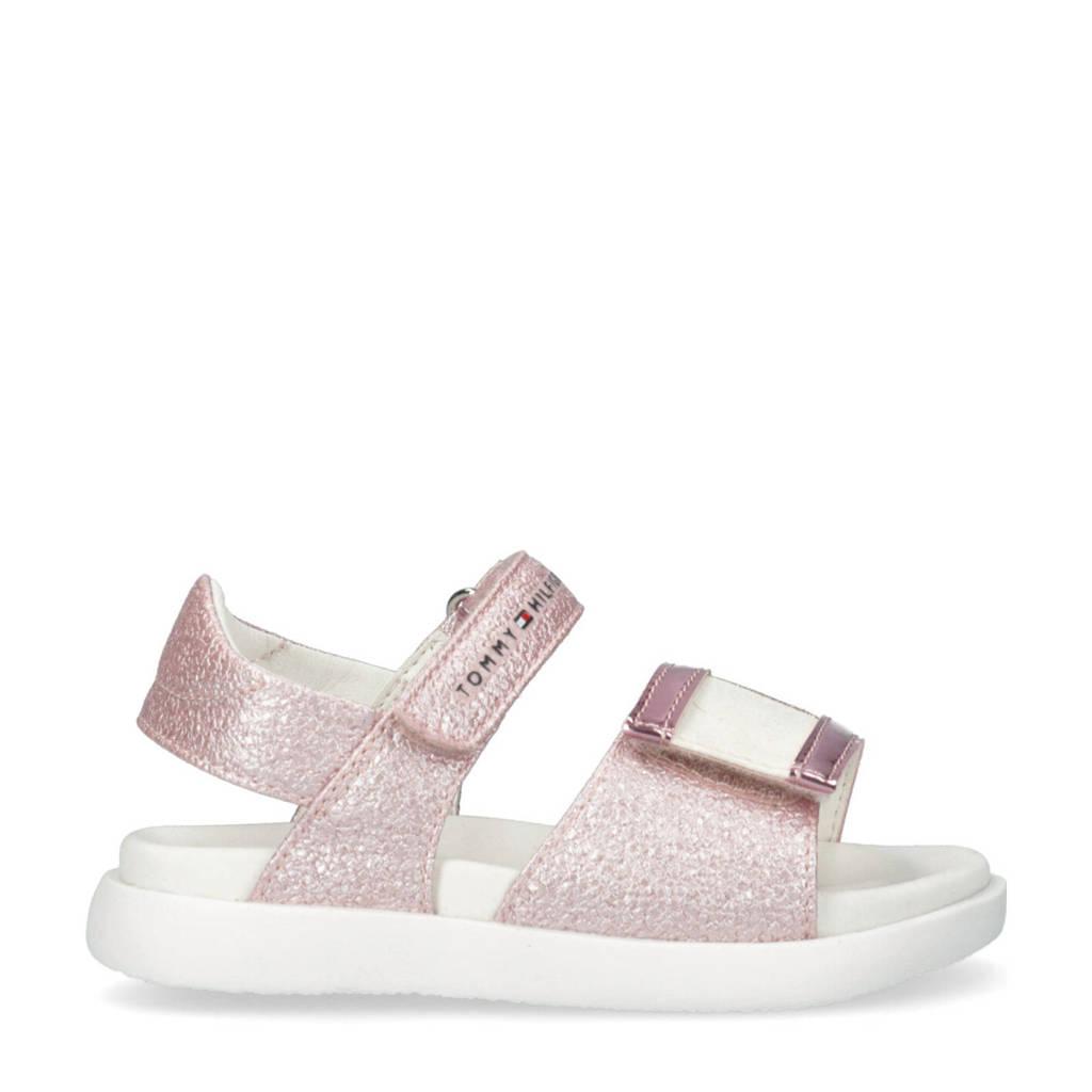 Tommy Hilfiger   sandalen met glitters roze, Roze