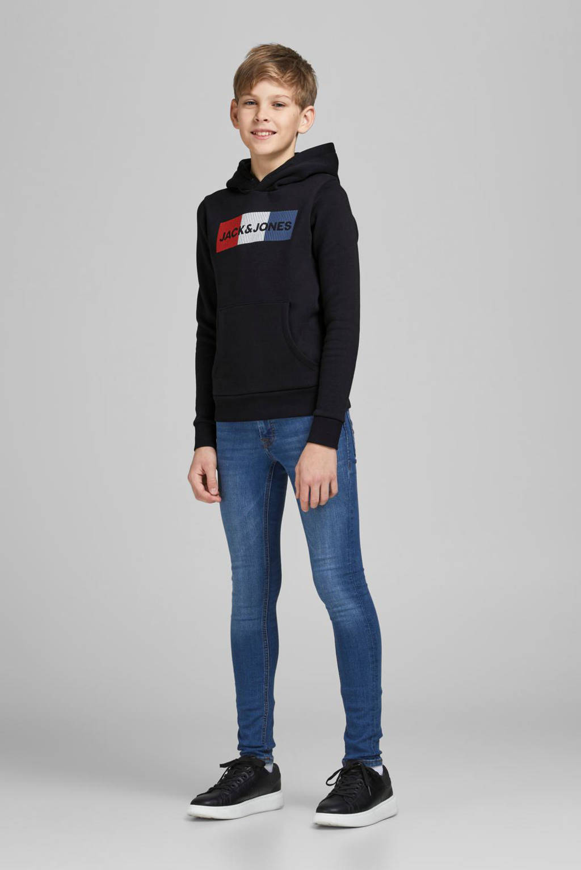 JACK & JONES JUNIOR hoodie Corp met logo zwart, Zwart