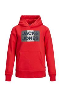 JACK & JONES JUNIOR hoodie met logo rood, Rood