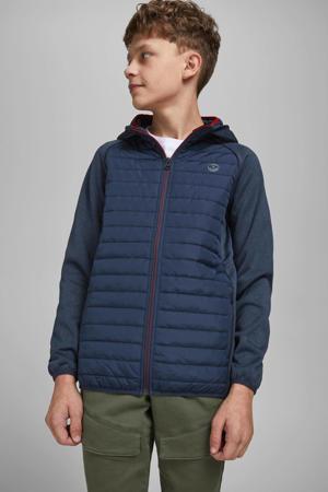gewatteerde jas Multi donkerblauw/donkerrood