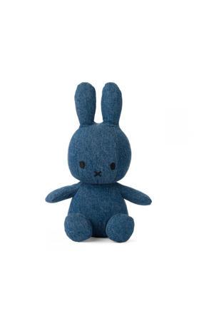 Miffy Sitting Mid Wash Denim knuffel 23 cm