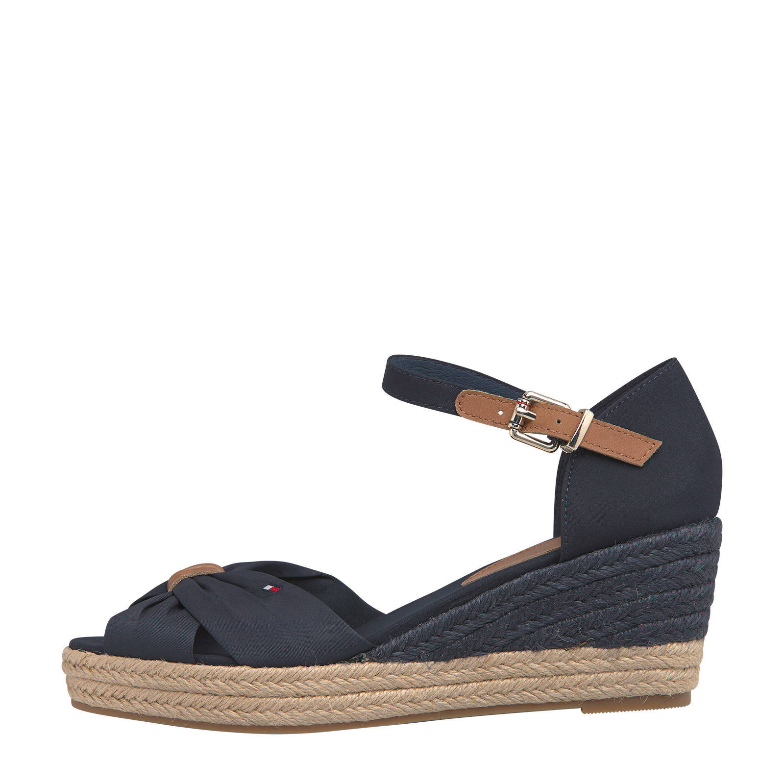 Tommy Hilfiger Basic Open Toe Mid Wedge sleehakken donkerblauw online kopen