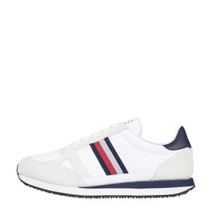 Runner Lo Leather Stripes  leren sneakers wit