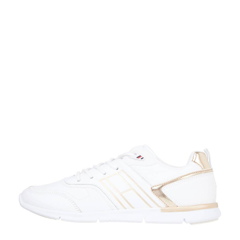 Tommy Hilfiger Metallic Lightweight  sneakers wit/goud, Wit/goud