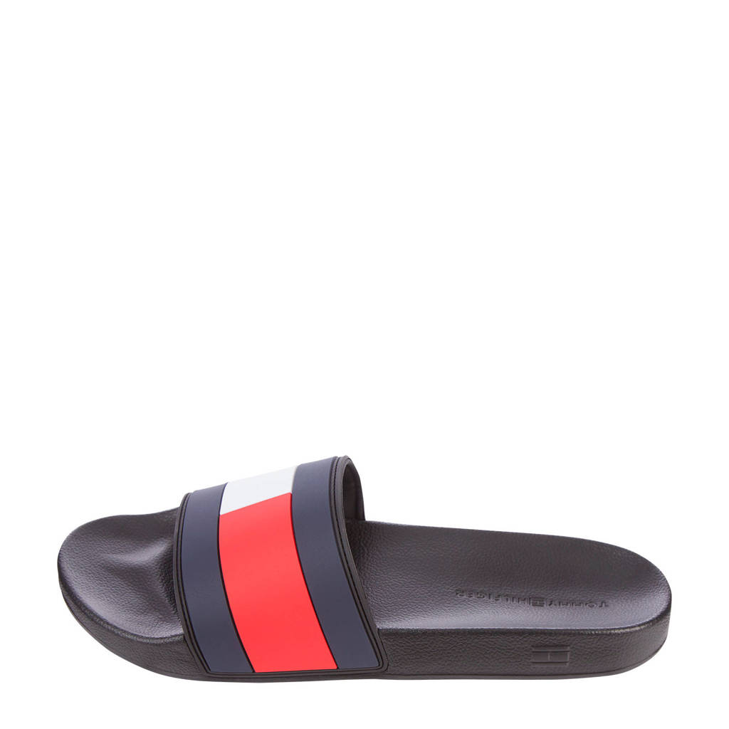 Tommy Hilfiger Essential Flag Pool Slide  badslippers donkerblauw, Donkerblauw/wit/rood