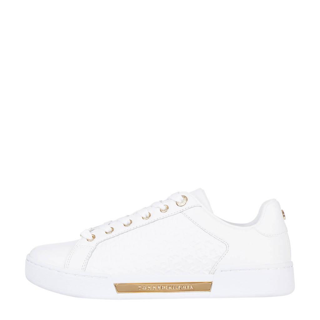 Tommy Hilfiger TH Monogram Elevated Sneaker  leren sneakers wit, Wit