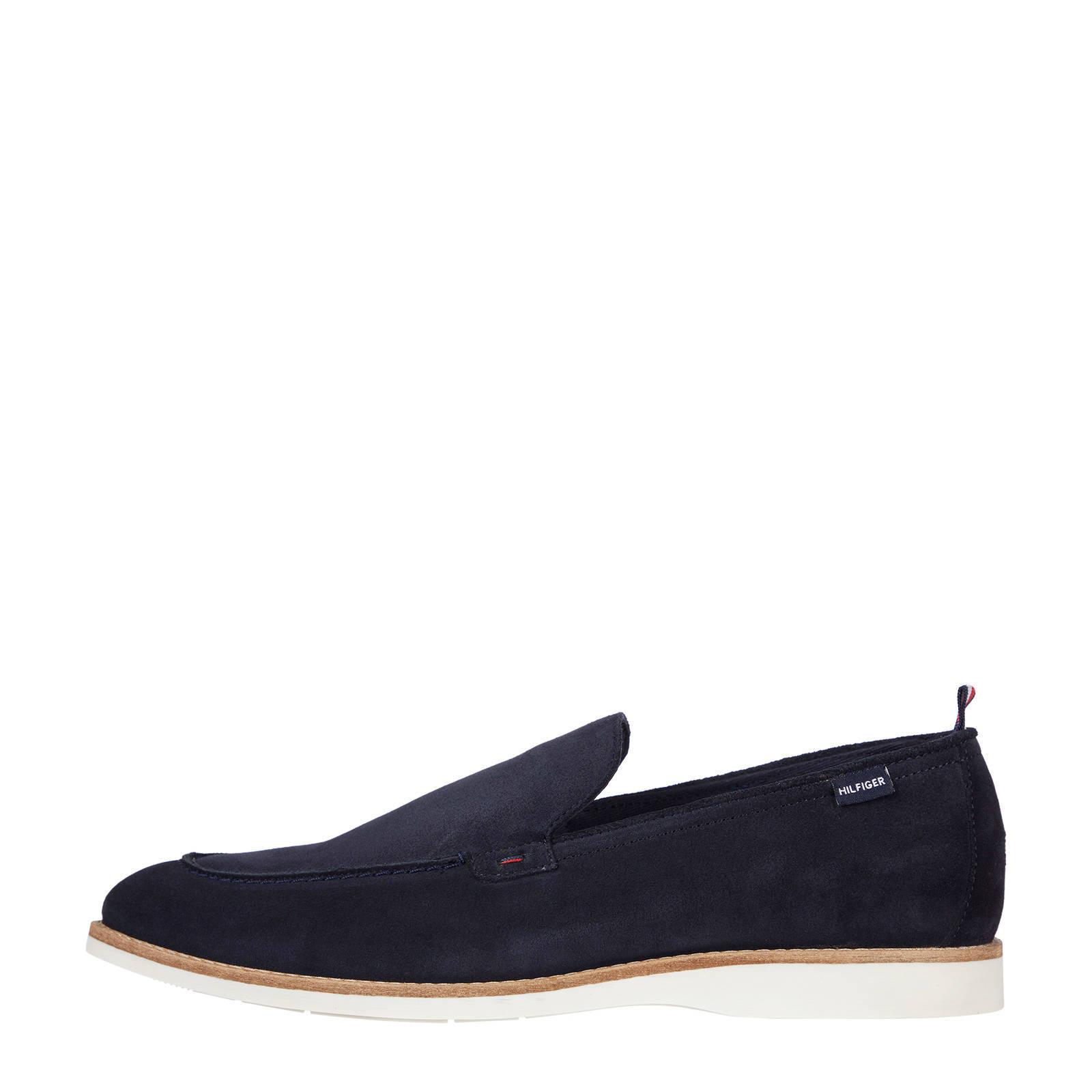 Tommy Hilfiger Casual Spring Suède Loafer suède instappers donkerblauw online kopen
