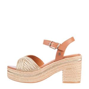 TH Artisanal Mid Heel Sandal  sandalettes bruin/goud
