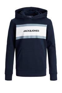 JACK & JONES JUNIOR hoodie Shake met logo donkerblauw, Donkerblauw