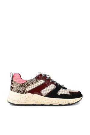 Minion  suède chunky sneakers zwart/multi
