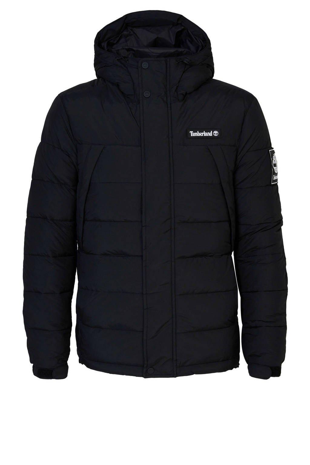 Timberland  jas met logo zwart, Zwart