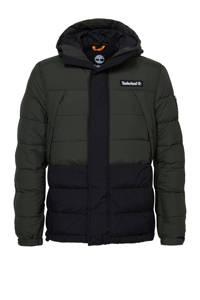 Timberland  jas met logo groen/zwart, Groen/zwart