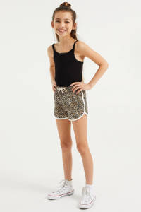 WE Fashion sweatshort - set van 2 zwart/bruin, Zwart/bruin