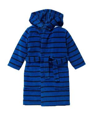 gestreepte badjas blauw