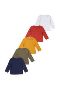 C&A Baby Club longsleeve - set van 5 multicolor, Multicolor