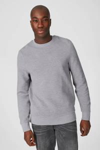 C&A Angelo Litrico gemêleerde ribgebreide sweater grijs, Grijs