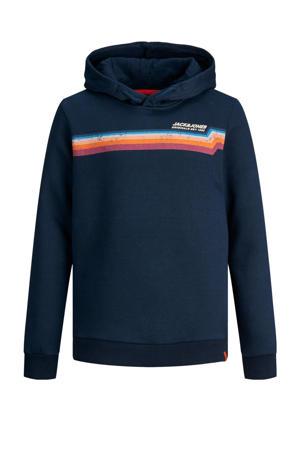 hoodie Tylers met logo blauw
