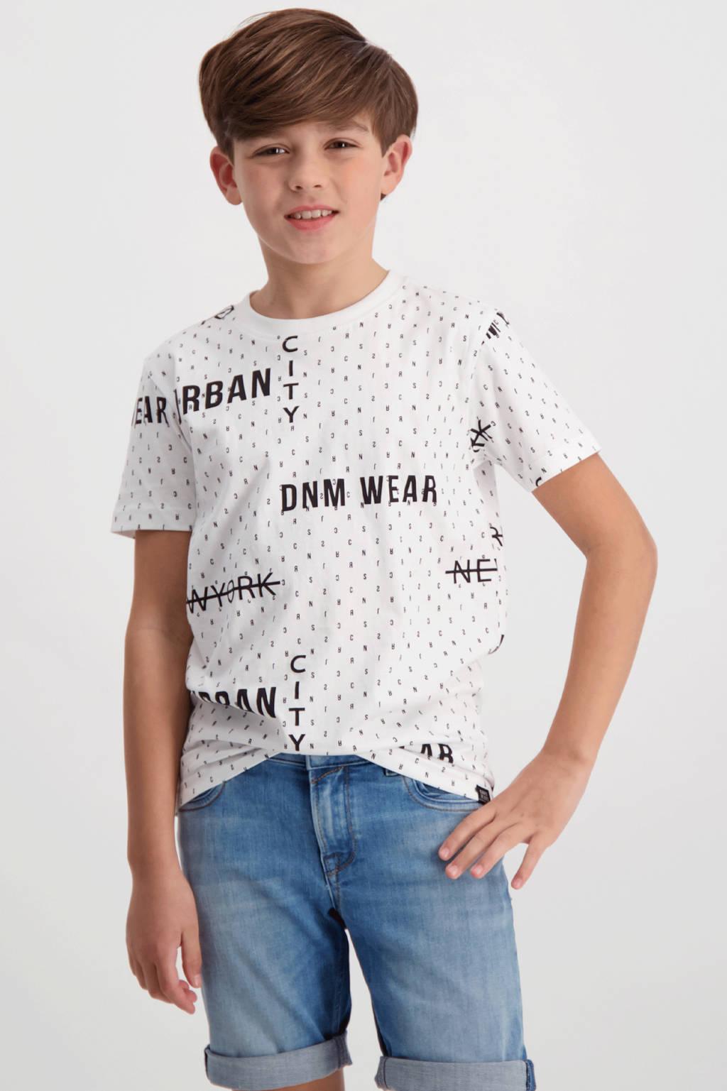 Cars T-shirt Custero met all over print wit/zwart, Wit/zwart