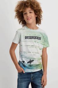 Cars T-shirt Siad met all over print lichtgroen, Lichtgroen