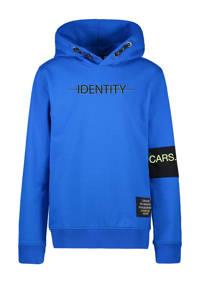 Cars hoodie Devon met tekst kobaltblauw, Kobaltblauw