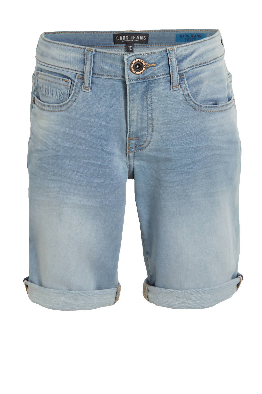 Cars regular fit jeans bermuda Seatle bleached used, Bleached used