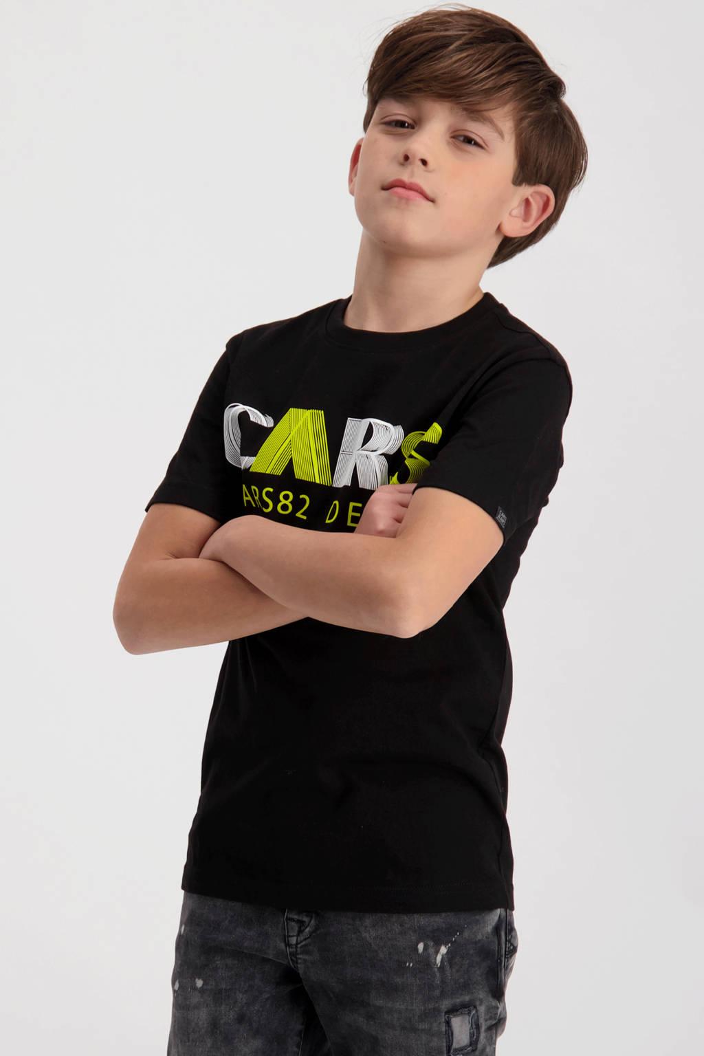 Cars T-shirt Wander met logo zwart, Zwart