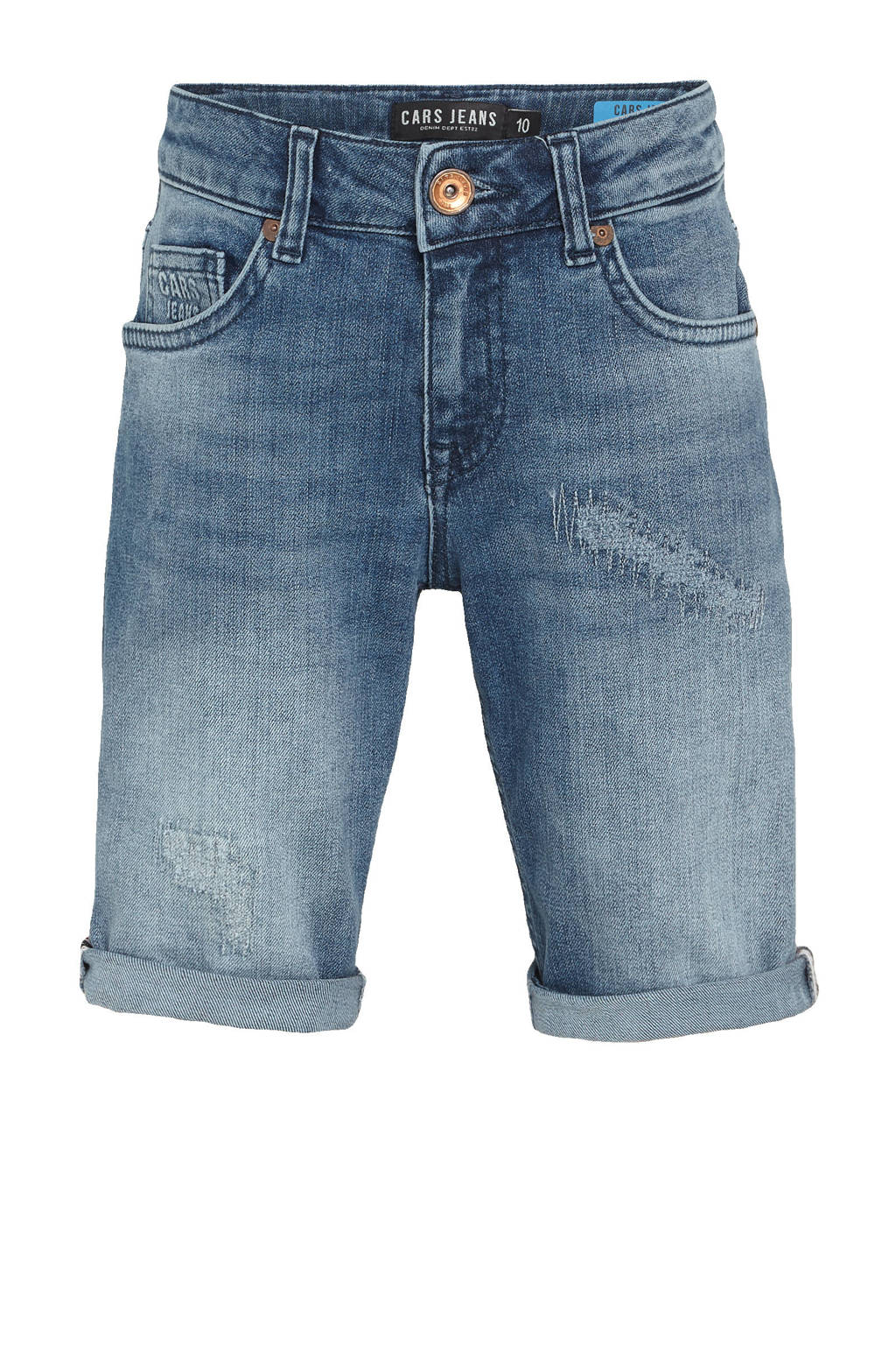 Cars regular fit jeans bermuda Trevor dark used, Dark used