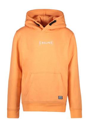 hoodie Samuel met logo oranje