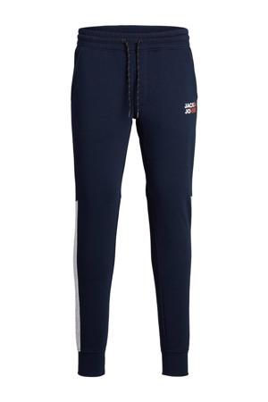 joggingbroek Will donkerblauw/wit/oranje
