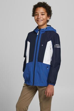 zomerjas Carson donkerblauw/wit/blauw