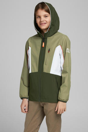 zomerjas Carson groen/wit
