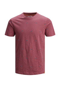 JACK & JONES JUNIOR T-shirt Logon donkerrood, Donkerrood
